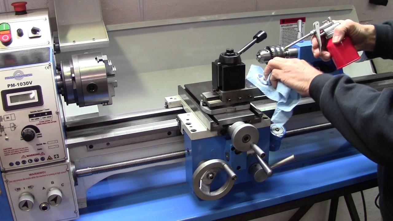 Precision Matthews Pm1030v Metal Lathe Setup Youtube