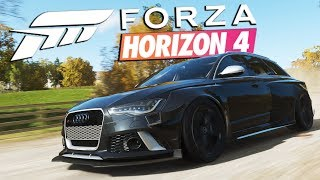 Zagrajmy w FORZA HORIZON 4 PL #3 - AUDI RS6 Z BODYKITEM ❤️ - Polski gameplay - 4K60