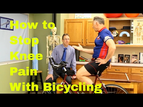 How to Stop Knee Pain with Bicycling. Stretches, Exercises, & Adjustments,