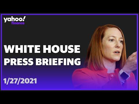 LIVE: White House Press Secretary Jen Psaki holds press briefing on climate change