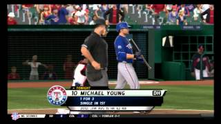 mlb 12 the show texas rangers franchise gms 131 133 vs cle
