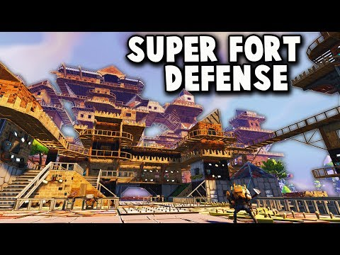 ZOMBIE Herd vs SUPER FORT! (Fortnite Multiplayer Gameplay Part 2 - Fortnite Fort Defense!)
