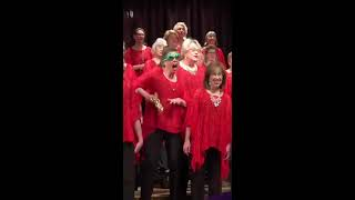 Funny Christmas choir singer