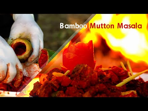 Bamboo Mutton Masala Recipe | Village cooking channel | Cooking in Forest