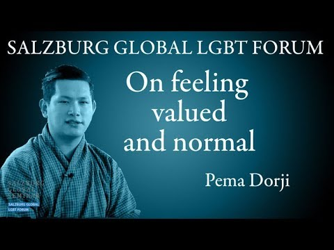 Pema Dorji on feeling valued and normal | Salzburg Global LGBT Forum