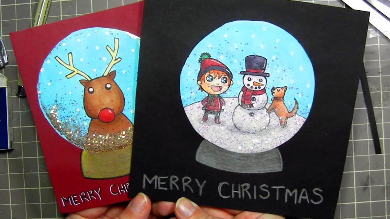 diy snow globe christmas card youtube m4hsunfo
