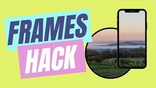 Frames Hack in Canva - One Image Over Multiple Frames screenshot 1