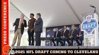 2021 NFL Draft Press Conference from Downtown Cleveland | Cleveland Browns