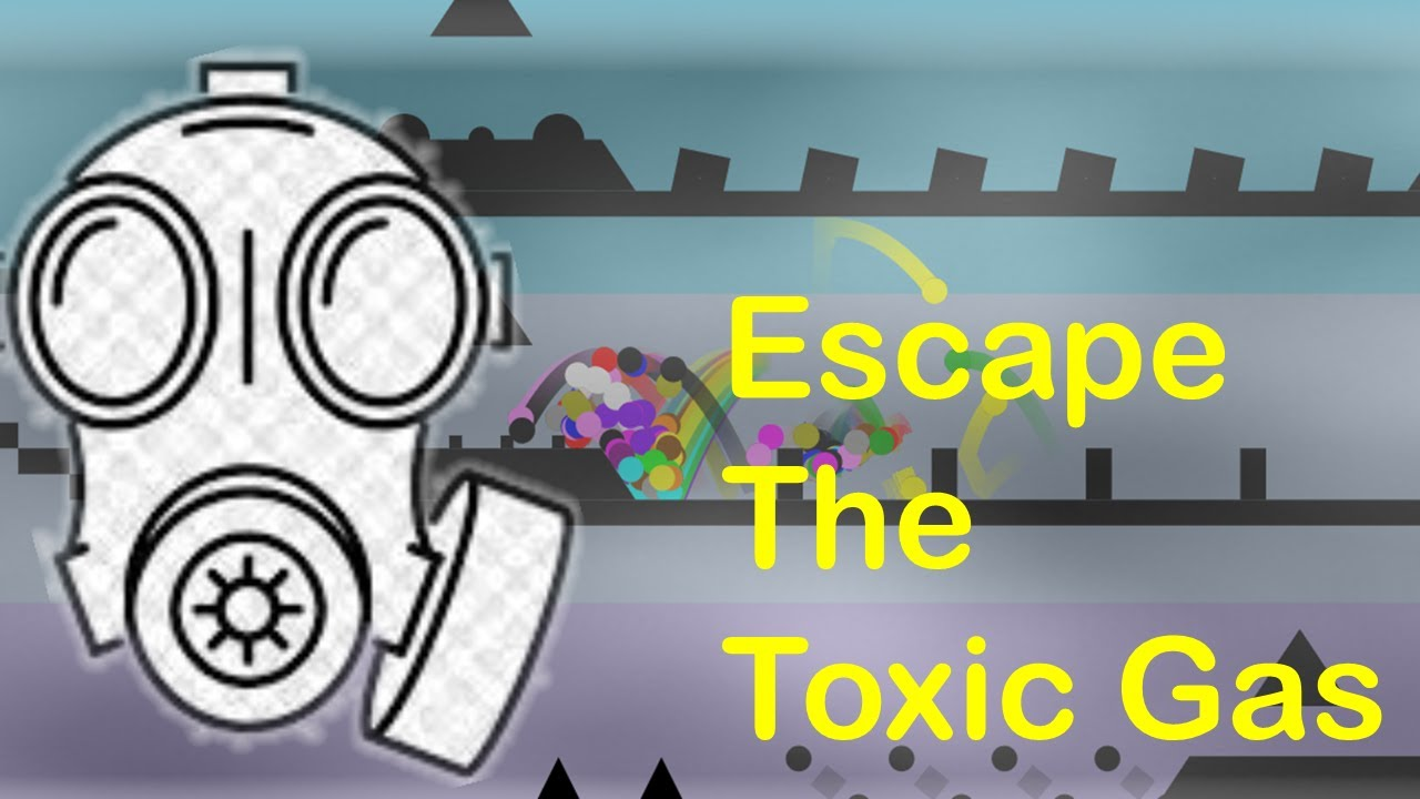 marble race : Escape The Toxic Gas -  Survival In Algodoo Marble Race