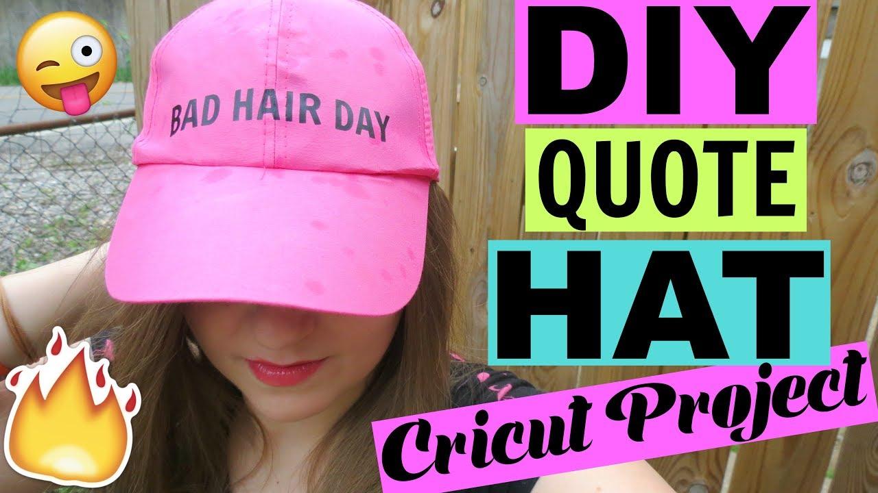 EASY DIY QUOTE HAT  eccc3edd0cc