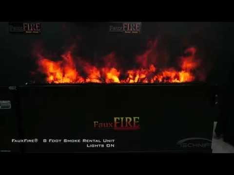 8 Foot FauxFire® Rental Smoke Unit - Simulated Fake Flame Fire System