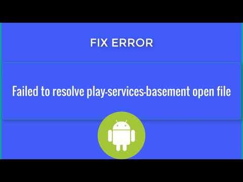Failed To Resolve Play Services Basement Open File Android Studio-SOLVED