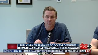Public Health responds to comments made by Accelerated Urgent Care Doctors to reopen Kern County