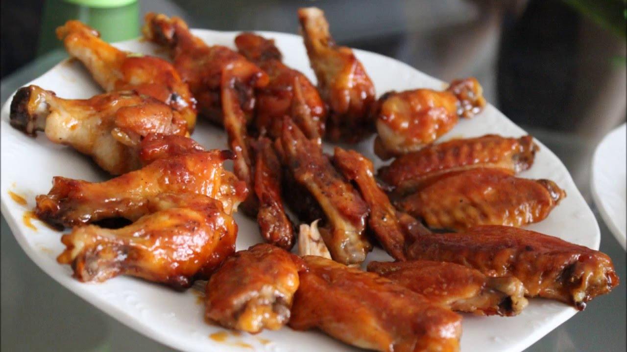 ali di pollo con salsa barbecue - youtube