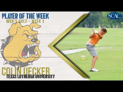 Colin Uecker, Texas Lutheran University, Men's Golfer of the Week (Week 1)