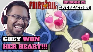 FAIRY TAIL: Episode 25 - Grey's Strongest Magic Has Been Used on Juvia!!! [LIVE REACTION]