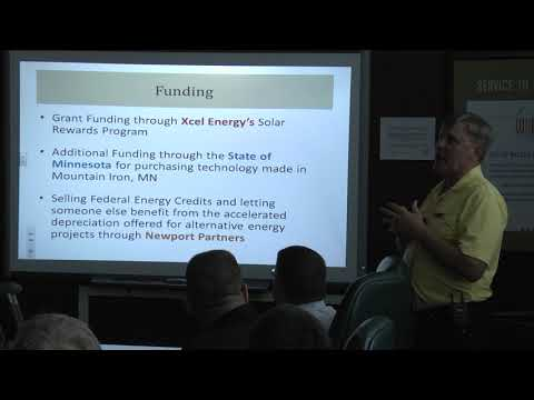 Solar presentation by Jay McCleary of Red Wing, Minnesota
