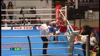 Nyrkkeily - boxing: Conrad Cummings IRL - Jere Jokinen FIN, Tammer Tournament, final, 75 kg