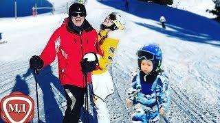 СЫН ВЛАДИМИРА ПРЕСНЯКОВА: 2-х летний Тёма осваивает горные лыжи на курорте в Австрии!