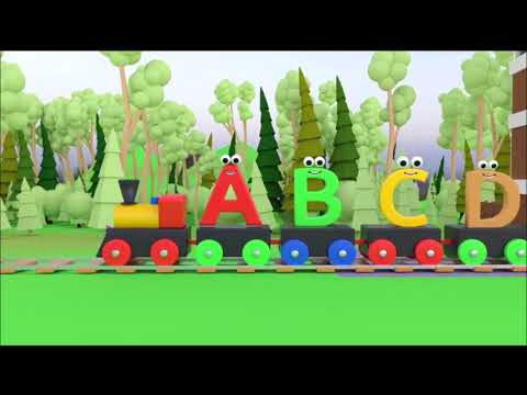 Adventure Train - The English alphabet pronunciation - A to Z animation for kids