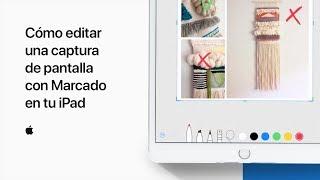 Cómo editar una captura de pantalla con Marcado en tu iPad – Soporte técnico de Apple