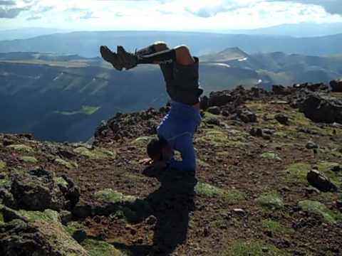 Chad Smith Forearm Stand on Uncompahgre Peak 14,309 ft
