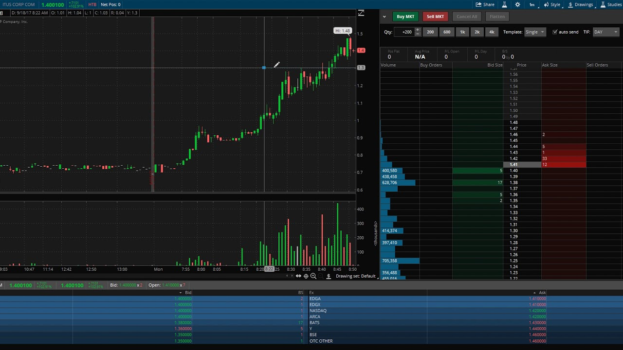 ThinkOrSwim: How to read Level 2 quotes