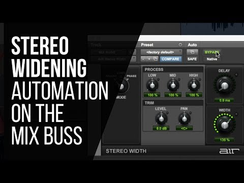 Stereo Widening Mix Buss Automation – RecordingRevolution.com