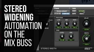 Stereo Widening Mix Buss Automation - RecordingRevolution.com