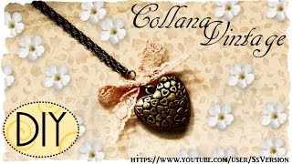 Tutorial: Collana Vintage Con Cuore | Diy Heart Necklace For Valentine's Day ❤