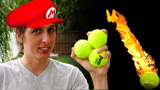 Soaking tennis balls in gasoline? What can go wrong! BIG thanks to ...