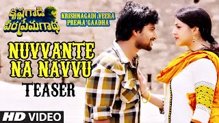 Nuvvante Na Navvu Video Teaser    Krishnagadi Veera Prema Gaadha (KVPG)    Nani, Mehr Pirzada