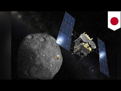 Japan's Hayabusa2 probe blasts crater into Asteroid Ryugu - TomoNews