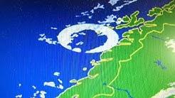 Regenradar zeigt Kreis, Norwegen, Nordsee