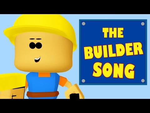 Cut Cut, Chisel, Chisel THE BUILDER SONG 3D Animation for Children HD Kids Songs DizzyMoonTV