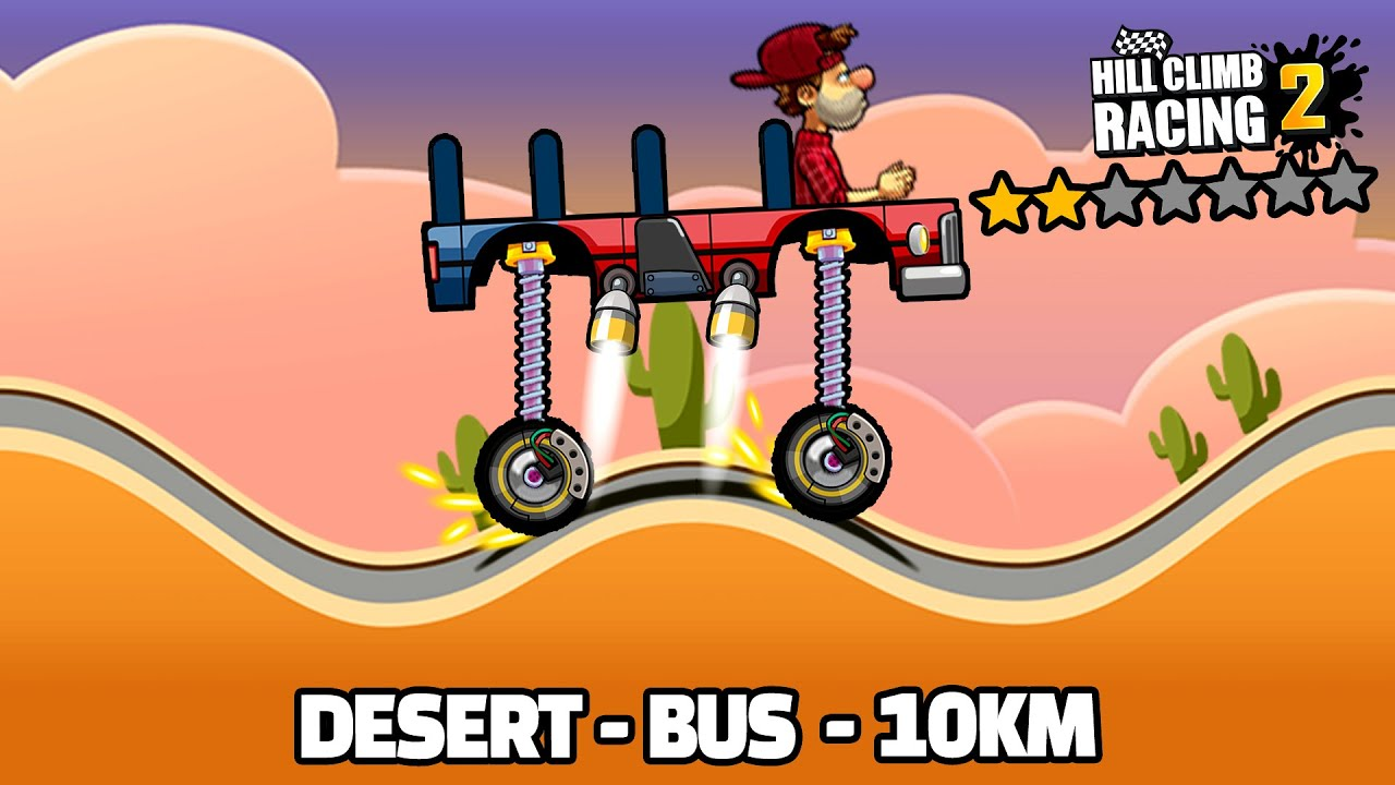 Hill Climb Racing 2 - 10000m with BUS in DESERT