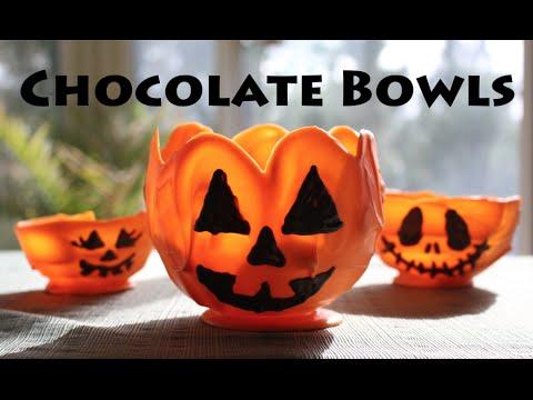 Halloween Chocolate Pumpkin Bowls!