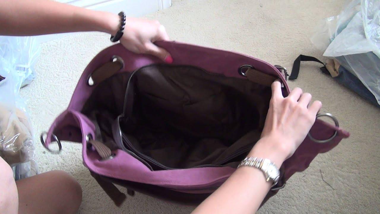 ecocity oversized vintage hobo canvas tote handbag with leather