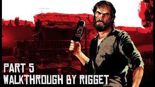 """Red Dead Redemption Прохождение с переводом Часть 5 """"Ирландец и его пулемет"""""""