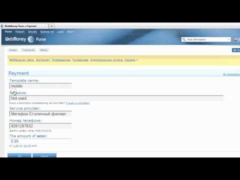 WebMoney Keeper Mini:How To Pay By A Template