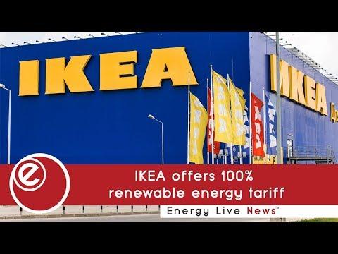 IKEA offers 100% renewable energy tariff