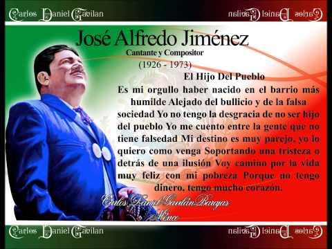 José Alfredo Jiménez  El Hijo Del Pueblo
