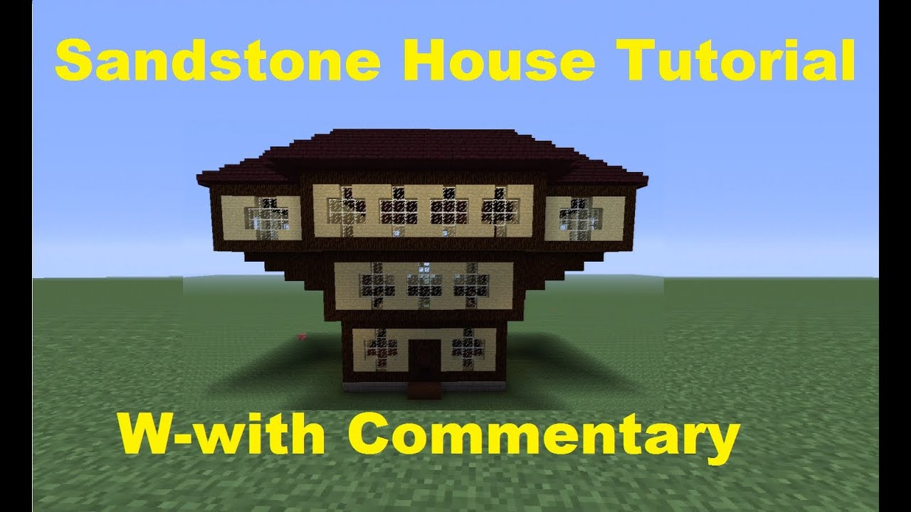 Minecraft 360 how to build a sandstone house youtube for How to build my house