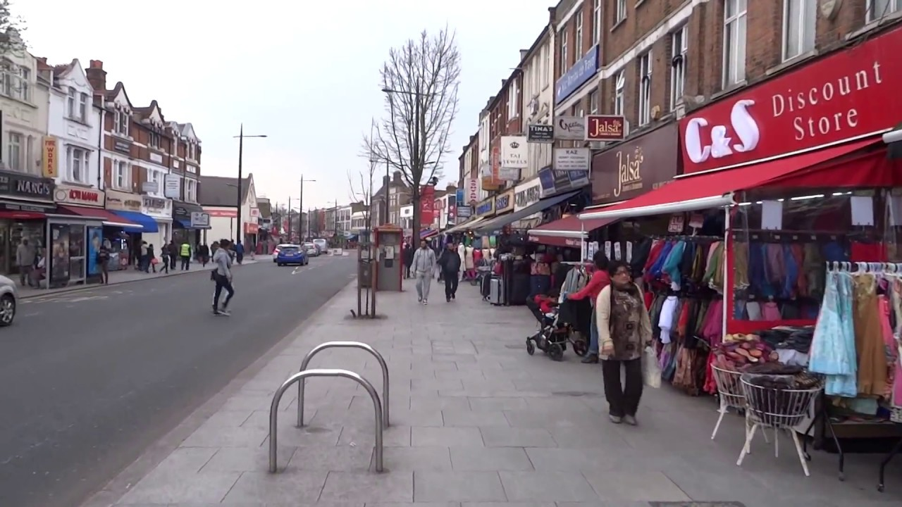 """Download Walking on London's """"Little India Streets"""" from The Broadway & then onto South Road, Southall."""