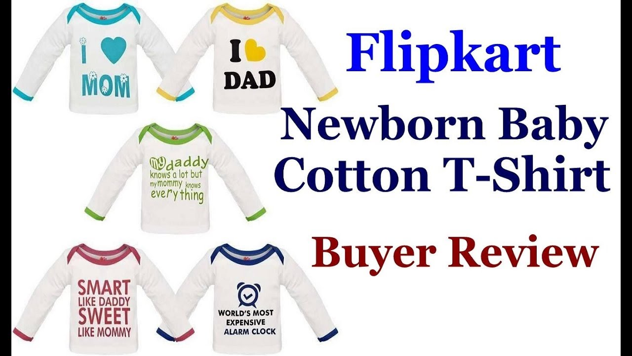 ab697d0eb Baby Cotton T-Shirt Review -  I Love Mom   Dad  Printed Cotton T ...