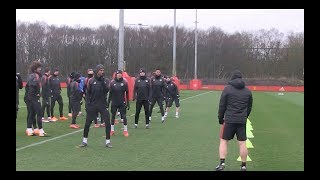 vuclip Manchester United train ahead of crunch Sevilla clash