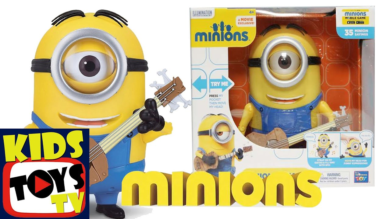 Minions Talking Stuart With Guitar Toys Collection