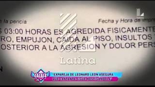 Expareja de Leonard León asegura que el cantante la sigue hostigando thumbnail