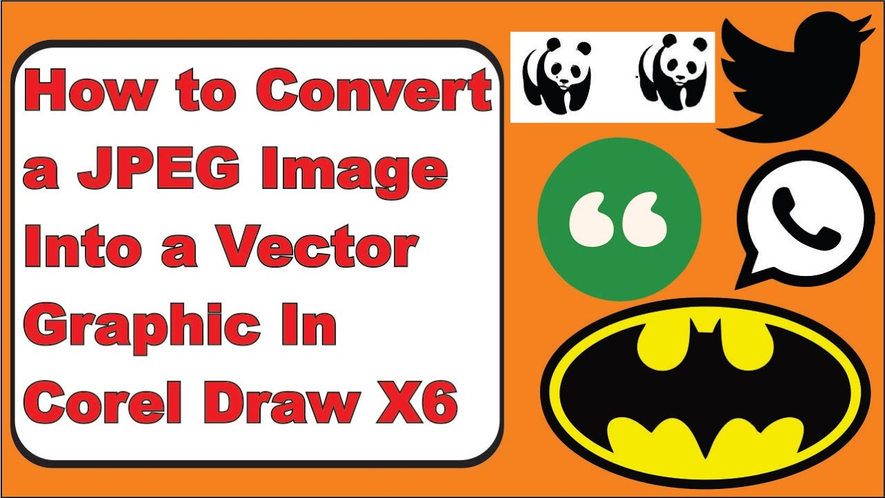 Coreldraw vector graphics - How To Convert A Jpeg Image Into A Vector Graphic In Corel Draw X6