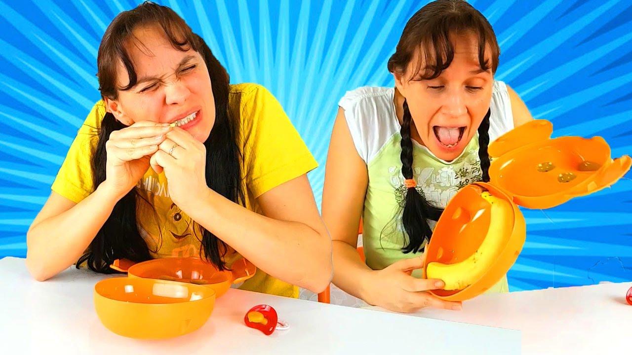 Bad Baby Обычная Еда против Мармелада Челлендж Мама ПЛАЧЕТ! Real Food vs Gummy Food Candy Challenge